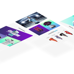Soccer Galaxy Isometric Website Mockup