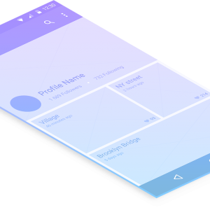 Mobile Android Screen - Wireframe Gradient 2