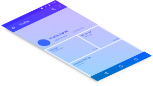 Mobile Android Screen - Wireframe Gradient
