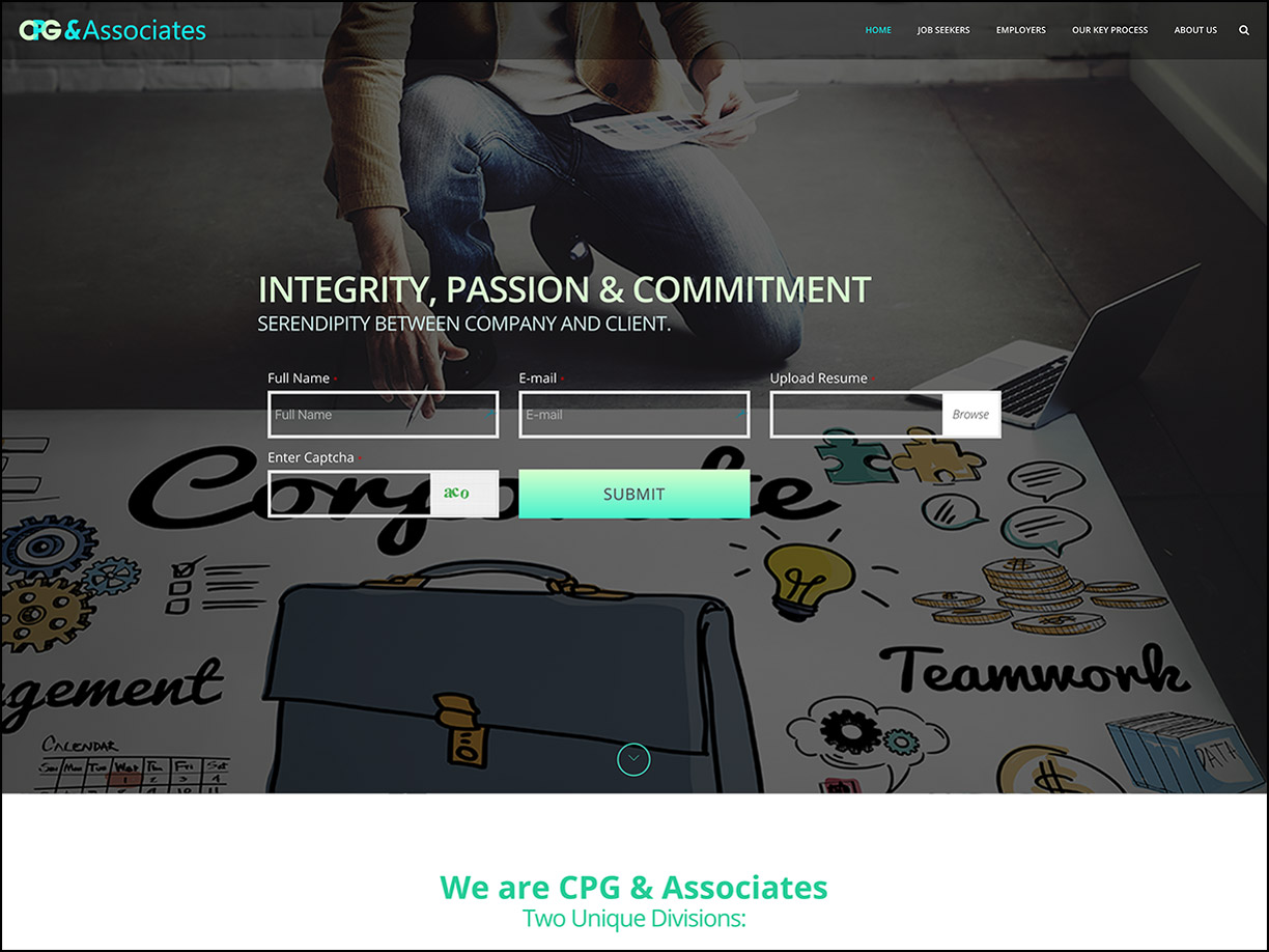 CPG & Associates Landing Page Preview