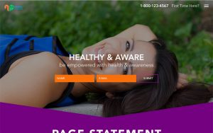 Healthy & Aware Landing Page Comp