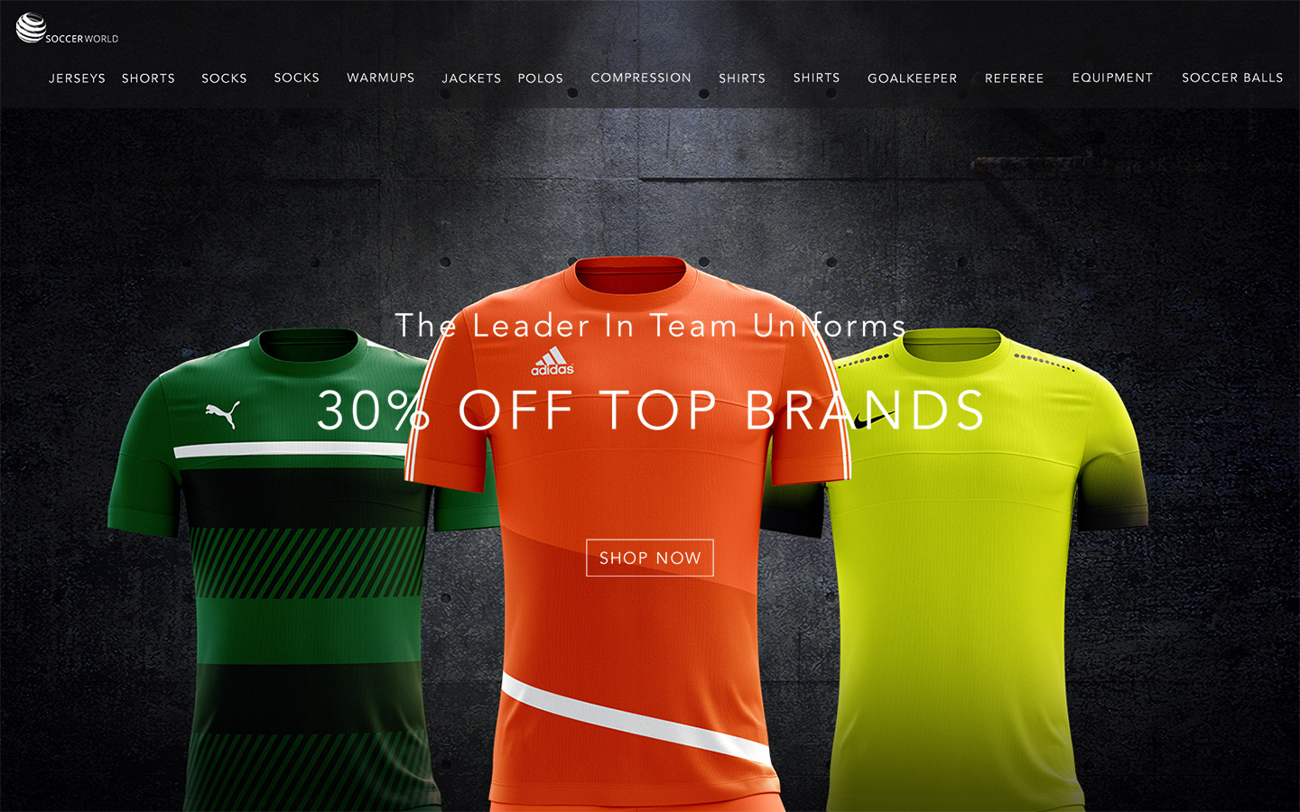 Soccer World Landing Page Comp