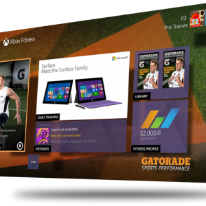 Xbox Fitness Gatorade 3d Composition