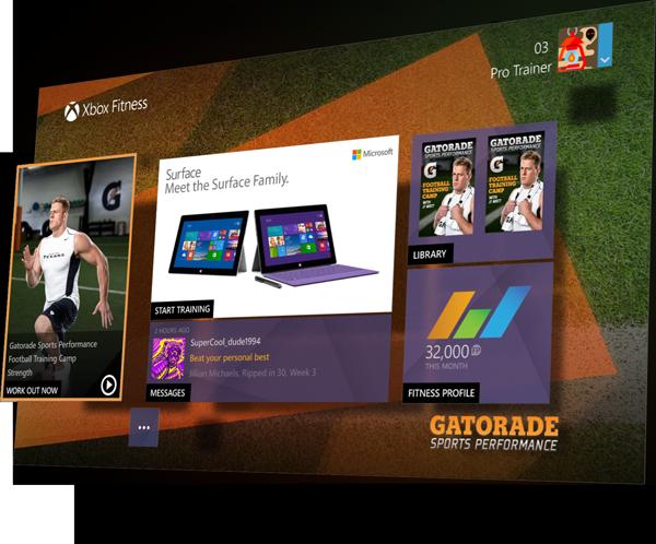 Xbox Fitness Gatorade 3d Composition